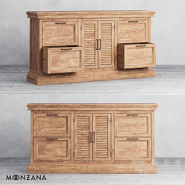 OM Комод Репаблик с ящиками и дверцами 3 секции Moonzana