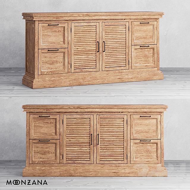 OM Комод Репаблик с ящиками и дверцами 4 секции Moonzana