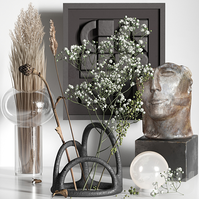 Decorative set 06 with Gypsophila and Manifesto