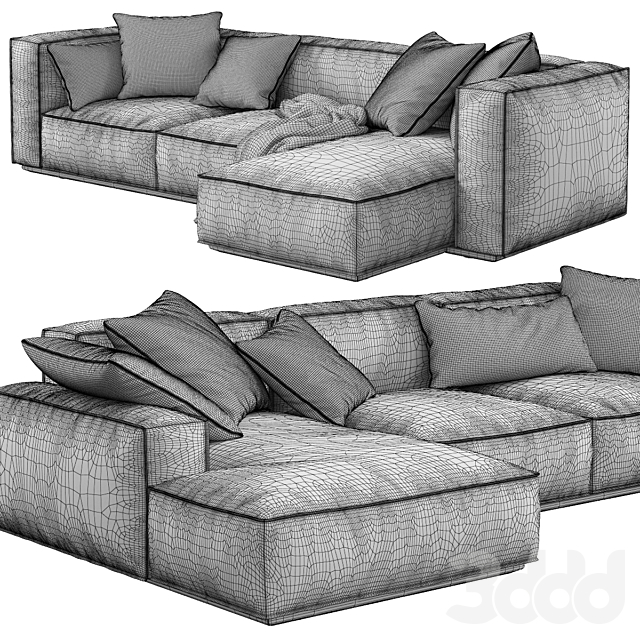 Arflex / Marechiaro XIII Sofa Chaise Longue
