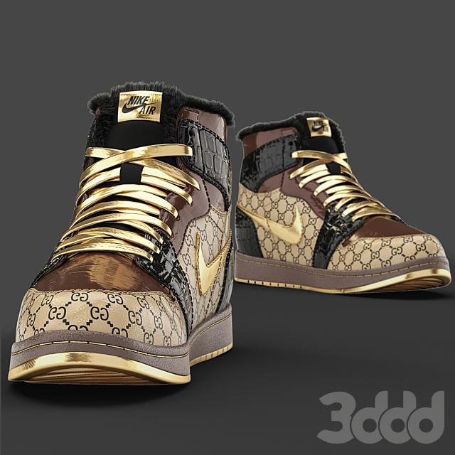 Jordan Gucci Sneakers