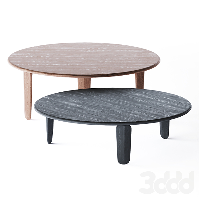 3d Modeli Stoly Kuyu Round Solid Wood Coffee Table By Zeitraum