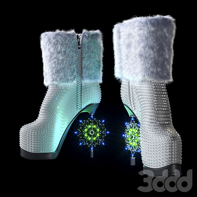 Snow Maiden Boots (vray next)
