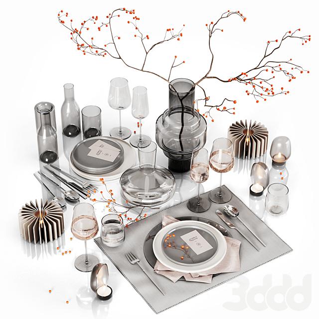 Table setting with rowan 2