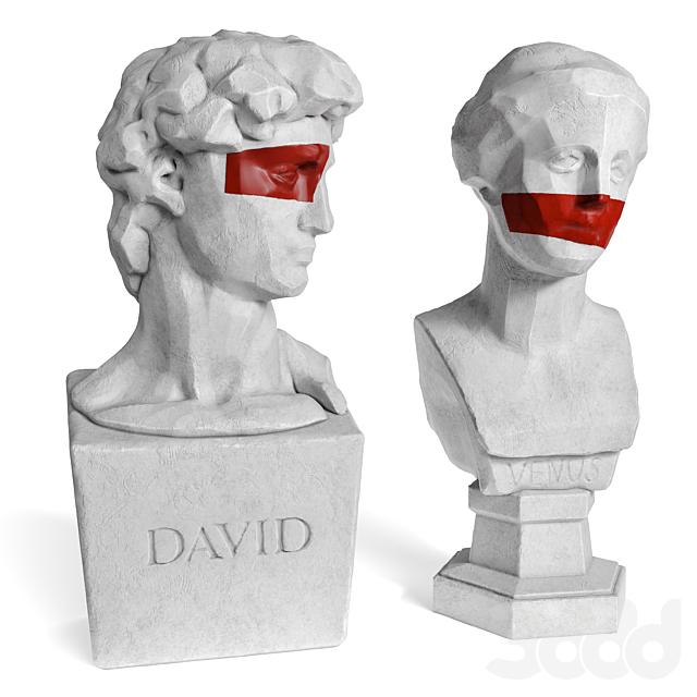 Venus and David edges bust