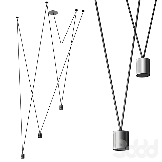 Match Pendant lamp by Vibia