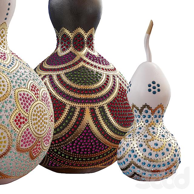 Турецкие лампы из тыкв
