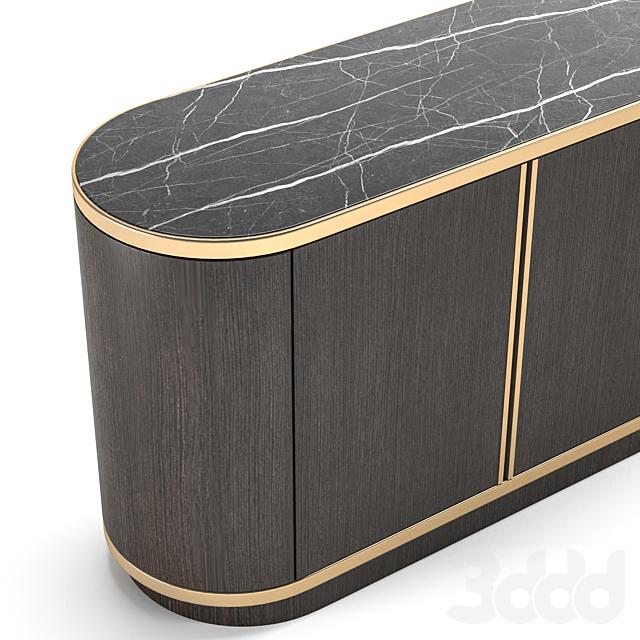 Brown Sideboard Marble by Laskasas