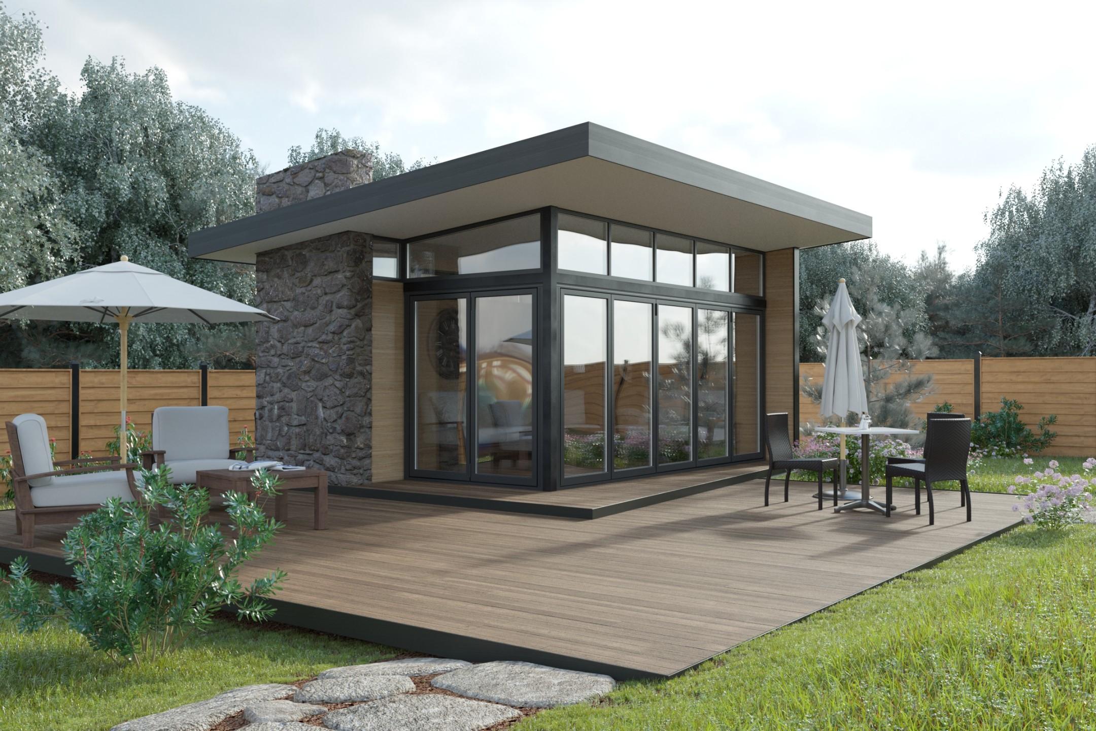 Летний дом с барбекю фото электрокамин димплекс 4 сезона