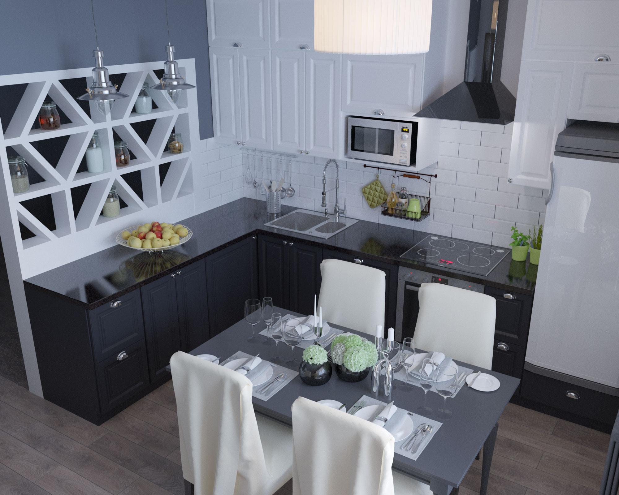 фото гостиная и кухня в одной комнате