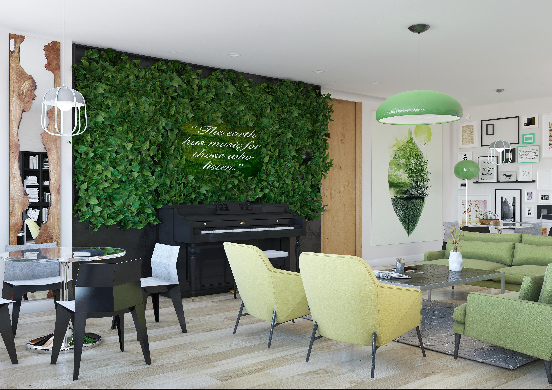 Концепция арт кафе в городе Киев Галерея ru Визуализация интерьера для дипломной работы на тему Дизайн проект Антикафе
